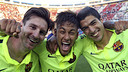 Messi, Neymar et Suarez forment la meilleure attaque d'Europe
