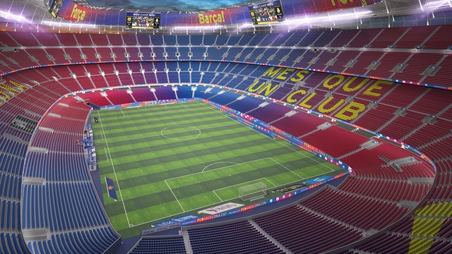 Night time view of the new Camp Nou / FCB