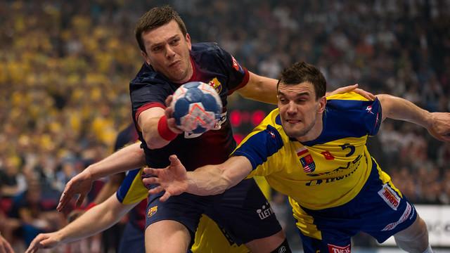 Siarhei Rutenka en el darrer enfrontament entre el FC Barcelona i el Kielce / FOTO:ARXIU-FCB
