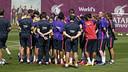 L'équipe pendant l'entrainement / MIGUEL RUIZ-FCB