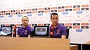 Andrés Iniesta and Sergio Busquets are both aware of the team's chance at a historic season. / MIGUEL RUIZ