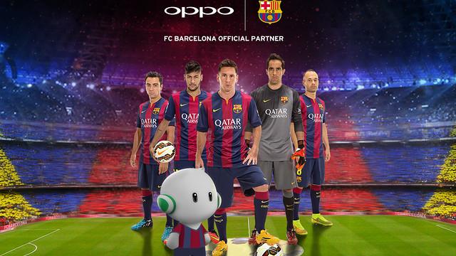 OPPO se convierte en patrocinador oficial del FC Barcelona