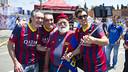 L'avi del Barça, a la Fan Zone / VICTOR SALGADO - FCB