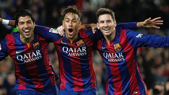 Suarez, Neymar et Messi ont été les protagonistes d'une des photos les plus célèbres dans le monde du football en 2015 / Photo : Miguel Ruiz