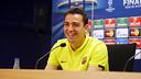 Xavi, durant la roda de premsa prèvia a la final de la Champions / MIGUEL RUIZ - FCB