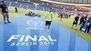 Leo Messi, tras el entrenamiento en el Olympiastadion / MIGUEL RUIZ-FCB