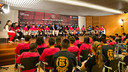 About 30 children and their coaches attended Tuesday's talk / GERMÁN PARGA / FCB