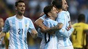 Argentina celebrate Higuaín's goal / FIFA.COM