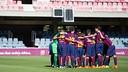 FC Barcelona's Under 14 A team played against the Aspire Academy. / FCB.COM