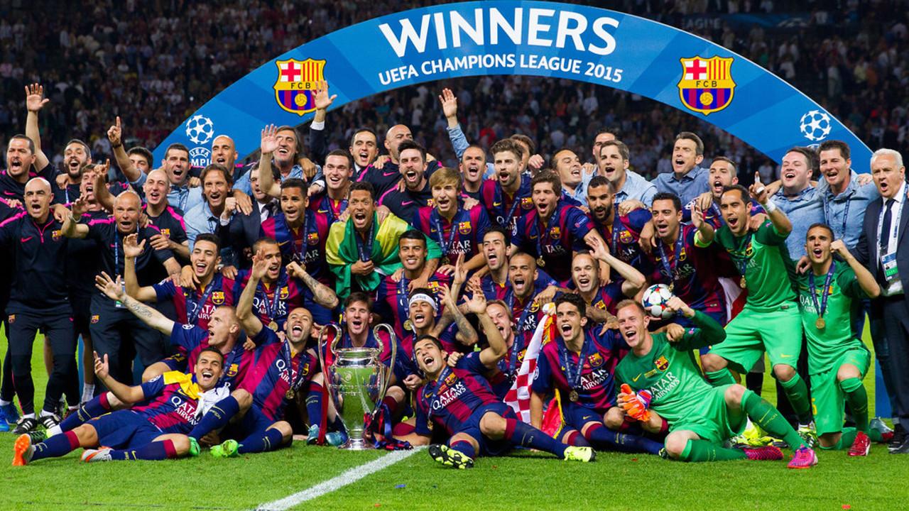 El Barça certificó el triplete en Berlín / ARCHIVO-FCB
