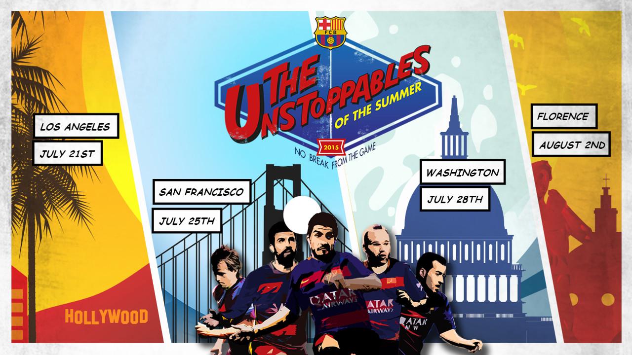 'The Unstoppables' (Els Imparables), la campanya del Barça per aquesta gira estiuenca / FCB