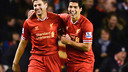 Gerrard and Suárez in their time at Liverpool FC / LIVERPOOL FC