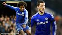 William y Hazard, dos de las figuras del Chelsea de Mourinho / FOTOMONTAJE - FCB