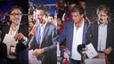 Els quatre candidats a la presidència del Barça han votat al matí / FOTOMUNTATGE FCB