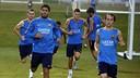 Les joueurs du Barça se sont entraînés sous une pluie fine Los Angeles / MIGUEL RUIZ-FCB
