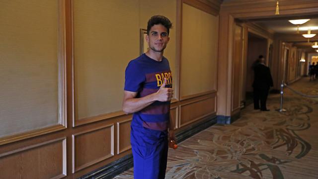 Bartra, a l'hotel de l'equip / MIGUEL RUIZ-FCB
