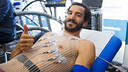 Pau Ribas taking his medical on Friday morning / VICTOR SALGADO