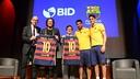 Cardoner, Vives, Moreno, Suárez and Bartra during the event BID