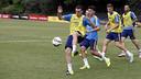 Thomas Vermaelen during training in Washington / MIGUEL RUIZ - FCB