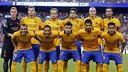 L'équipe du Barça qui a affronté Chelsea aux Etats-Unis