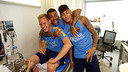 Ter Stegen, Alves and Neymar Jr, at the Ciutat Esportiva / MIGUEL RUIZ-FCB