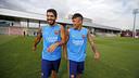 Luis Suárez and Neymar Jr train with the team / MIGUEL RUIZ-FCB
