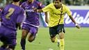 Dani Alves, en match amical à l'Artemio Franchi de Florence en 2008 / ARCHIVES - FCB