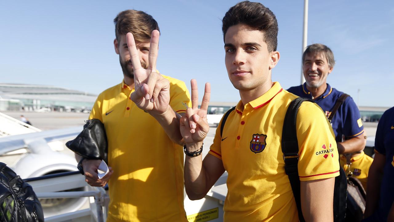 Piqué i Bartra, abans de sortir cap a Florència / MIGUEL RUIZ-FCB