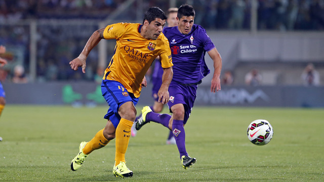 Luis Suárez scored FC Barcelona's only goal against Fiorentina on Sunday 2 August 2015. / MIGUEL RUIZ - FCB