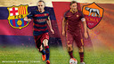 Iniesta and Totti, captains / FCB