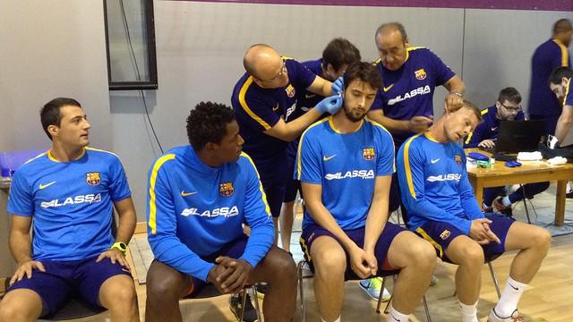 Els blaugranes realitzen diverses proves al llarg d'aquesta pretemporada / FOTO:FCB