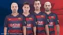 Iniesta, Messi, Sergio and Mascherano, the four captains / FCB