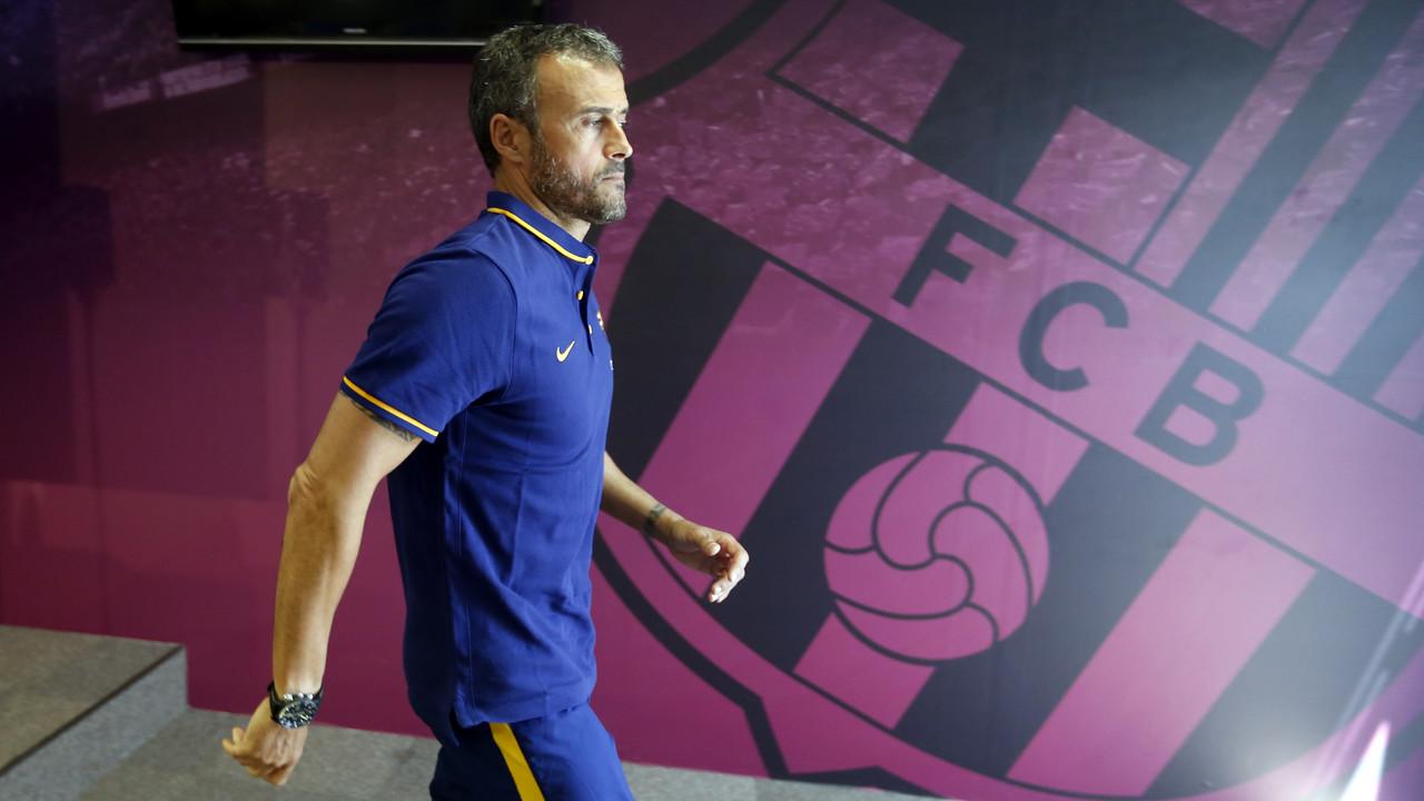Luis Enrique, en roda de premsa / MIGUEL RUIZ-FCB