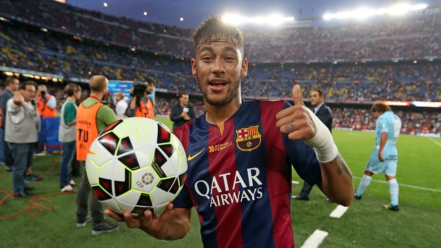 Neymar and the rest of the team are looking forward to your support throughout La Liga 2014/15 / MIGUEL RUIZ-FCB