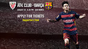 Tickets to first La Liga fixture, on the 10th of August
