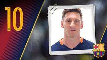 Retrato Lionel Andrés Messi. Dorsal 10