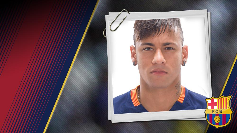 Portrait Neymar da Silva Santos Júnior. Number 11