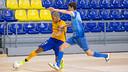 El Barça Lassa de futbol sala ha jugat el primer amistós contra el Peñíscola / GERMÁN PARGA - FCB