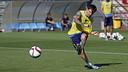 Leo Messi durant l'entrenament d'aquest diumenge / MIGUEL RUIZ - FCB