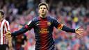 Leo Messi après un but à San Mamés / MIGUEL RUIZ-FCB