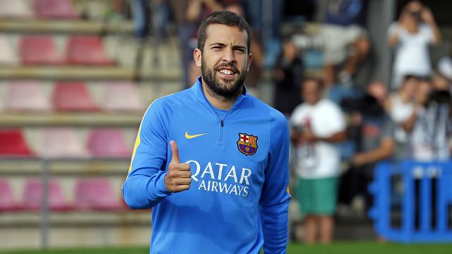 Jordi Alba declared fit for trip to Bilbao / MIGUEL RUIZ-FCB