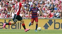 Jordi Alba, provider of the assist for the only goal of the game / MIGUEL RUIZ - FCB