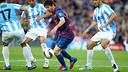 Messi has scored five goals in Málaga's last five visits to the Camp Nou / MIGUEL RUIZ - FCB