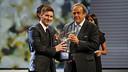 Messi and Platini at the Grimaldi Forum  / MIGUEL RUIZ - FCB