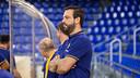 Ricard Muñoz, durante un partido en el Palau Blaugrana / Germán Parga - FCB
