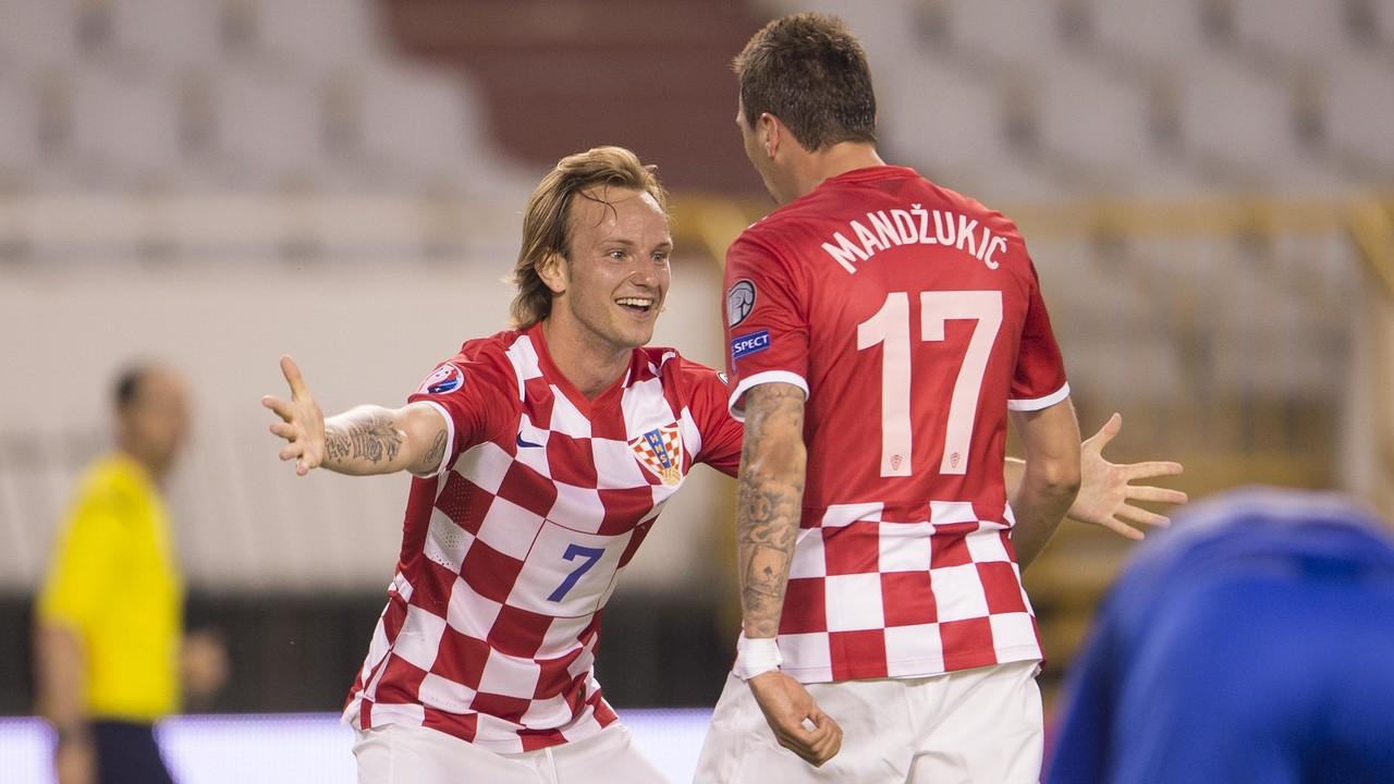 Ivan Rakitic après un but de sa sélection / DRAGO SOPTA - HNS