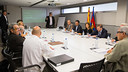 The Espai Barça jury and the technical committee in a meeting / GERMAN PARGA-FCB