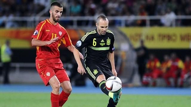 Iniesta competing for Spain / UEFA.com