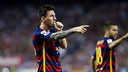 Lionel Messi dedicates his game-winning goal to his newly born son. / MIGUEL RUIZ-FCB