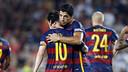 Suárez and Messi against Roma in August / MIGUEL RUIZ-FCB